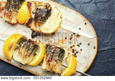 Grilled Fish On Skewers.