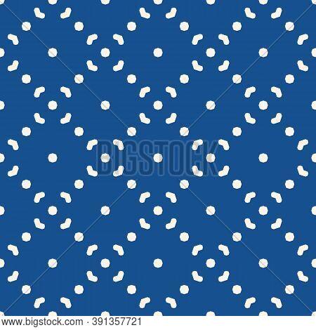 Simple Minimalist Vector Seamless Pattern. Abstract Blue Geometric Texture. Subtle Minimal Backgroun