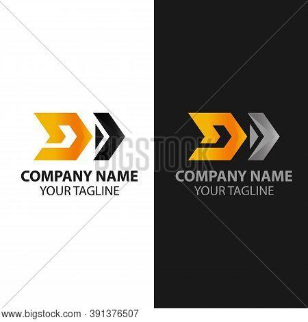 Letter D With Arrow Logo Template, Speed, Arrow Ans Letter D