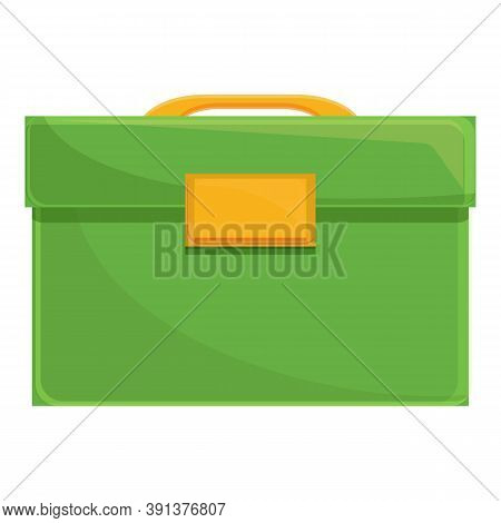 Lunch Bag Icon. Cartoon Of Lunch Bag Vector Icon For Web Design Isolated On White Background