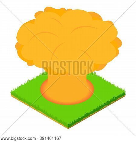 Nuclear Explosion Icon. Isometric Illustration Of Nuclear Explosion Vector Icon For Web