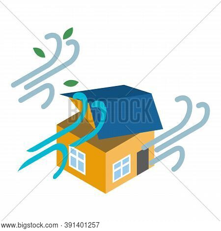 Strong Wind Icon. Isometric Illustration Of Strong Wind Vector Icon For Web
