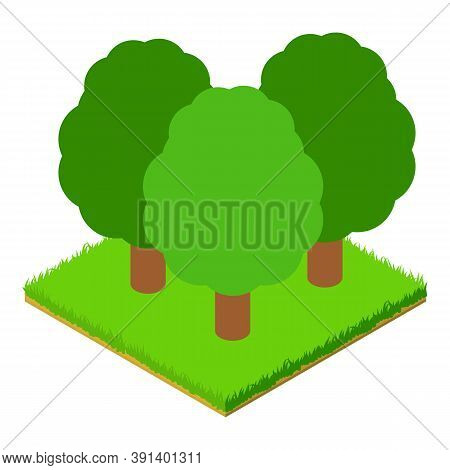 Deciduous Forest Icon. Isometric Illustration Of Deciduous Forest Vector Icon For Web