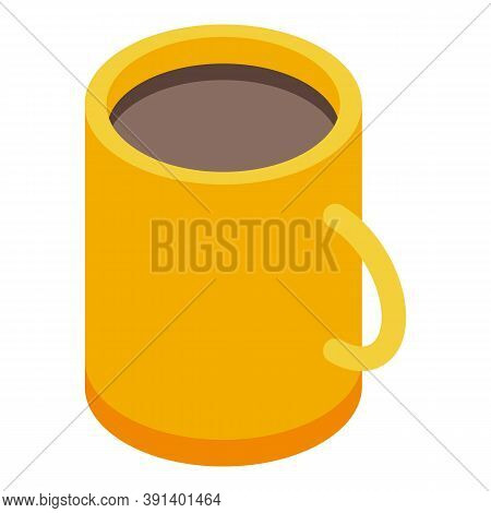 Cozy Home Tea Mug Icon. Isometric Of Cozy Home Tea Mug Vector Icon For Web Design Isolated On White