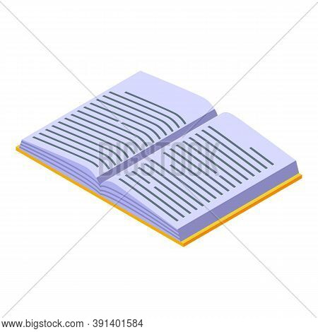 Cozy Home Open Book Icon. Isometric Of Cozy Home Open Book Vector Icon For Web Design Isolated On Wh