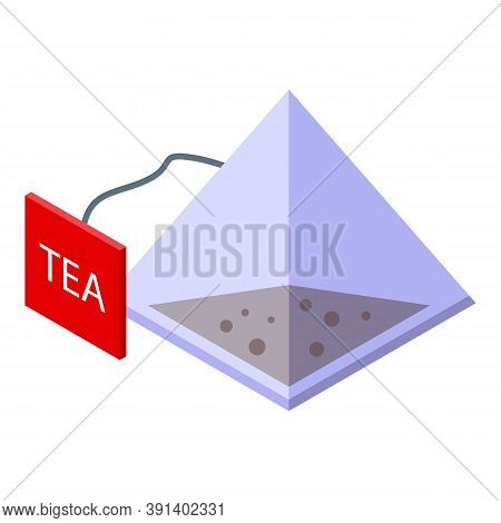 Tea Pyramide Icon. Isometric Of Tea Pyramide Vector Icon For Web Design Isolated On White Background