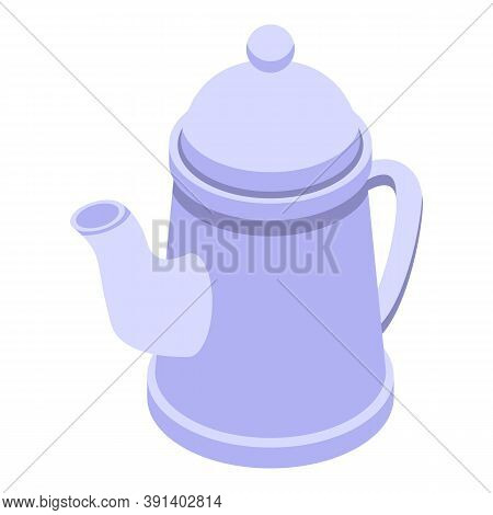 Ceramic Tea Pot Icon. Isometric Of Ceramic Tea Pot Vector Icon For Web Design Isolated On White Back