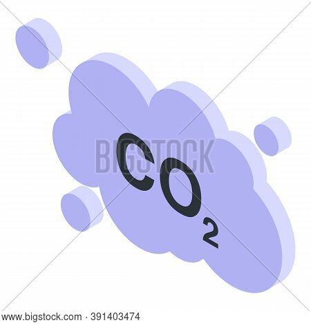 Global Warming Co2 Icon. Isometric Of Global Warming Co2 Vector Icon For Web Design Isolated On Whit