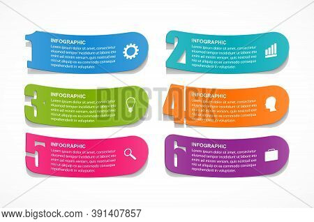 Options Infographics Template With Numbers Option. Infographics For Business Presentations Or Inform