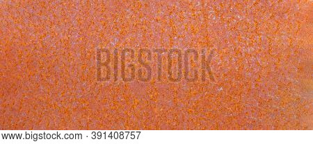 Orange Old Rusty Metal Texture, Background. Grunge Rusted Metal Texture, Rust And Oxidized Metal Bac