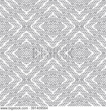Seamless Pattern. Modern Elegant Geometrical Texture With Regularly Repeating Intersecting Thin Line