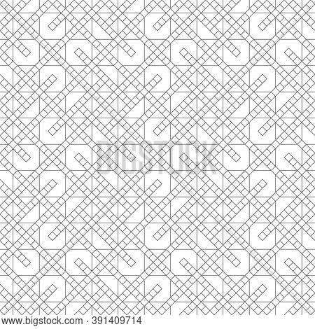Seamless Pattern. Modern Stylish Geometrical Texture. Regularly Repeating Small Linear Rhombuses, Zi
