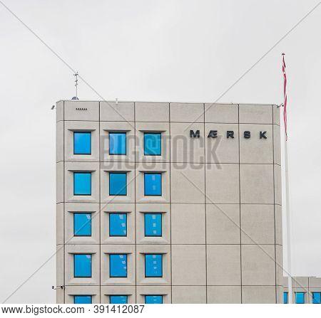 Copenhagen /denmark, Jule 14 2019. -maersk Group, Danish Business Conglomerate In Transport, Logisti