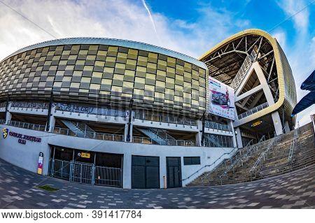 Cluj-napoca, Romania - September 20, 2020: Cluj Arena Stadium, A Modern Footbal And Sports Arena, On