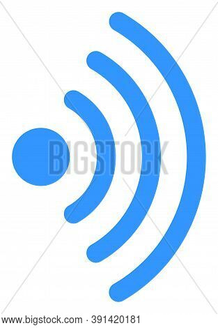 Wi-fi Source Icon On A White Background. Isolated Wi-fi Source Symbol With Flat Style.