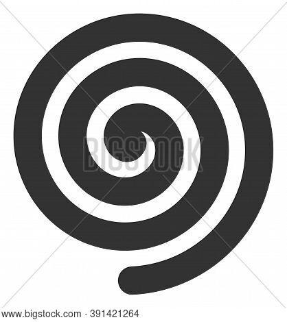 Hypnosis Spiral Icon On A White Background. Isolated Hypnosis Spiral Symbol With Flat Style.