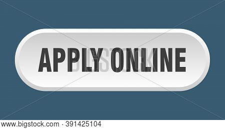 Apply Online Button. Rounded Sign On White Background