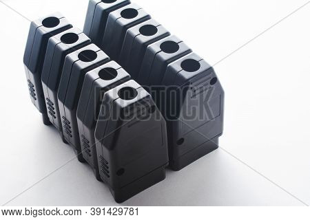 Bunch Of Obd2 Car Scanners And Diagnostic Interfaces. Obdii Professional Car Scanner. Plug Connector