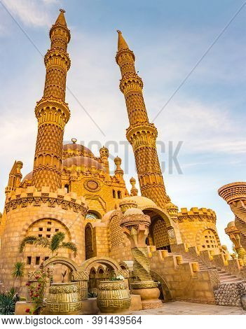Al Mustafa Mosque In The Old Town Of Sharm El Sheikh, Egypt. One Of The Main Tourist Attraction With