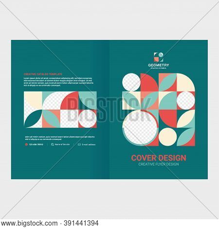 Cover Design For Presentations And Advertising, Creative Layout Of Booklet Cover, Catalog, Flyer, Fa