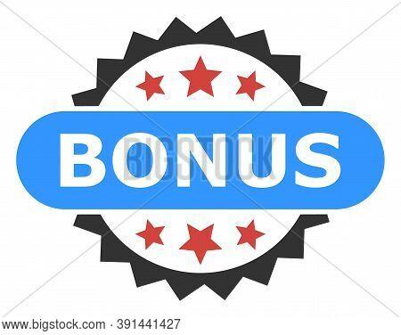 Bonus Tag Icon On A White Background. Isolated Bonus Tag Symbol With Flat Style.