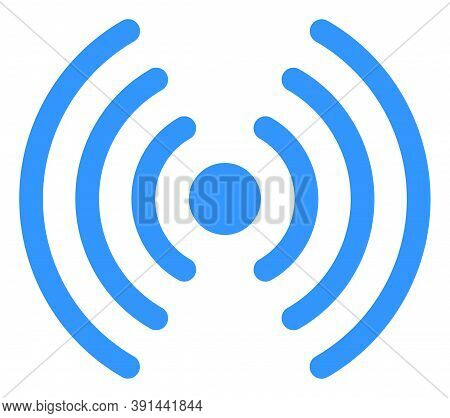 Wi-fi Signal Icon On A White Background. Isolated Wi-fi Signal Symbol With Flat Style.