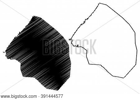 Sale City (kingdom Of Morocco, Rabat-sale-kenitra Region) Map Vector Illustration, Scribble Sketch C