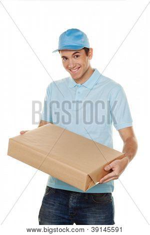 a messenger delivered by courier service parcel post