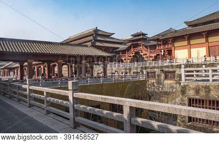 Zhejiang, China - January 21 2020 : Hengdian World Studios  The World's Largest Film & Tv Shooting B