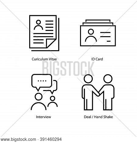 Business People Line Icons Set. Meeting. Communication, Member Icons. Congress, Talk Person, Partner