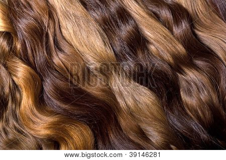 Natural human hair background