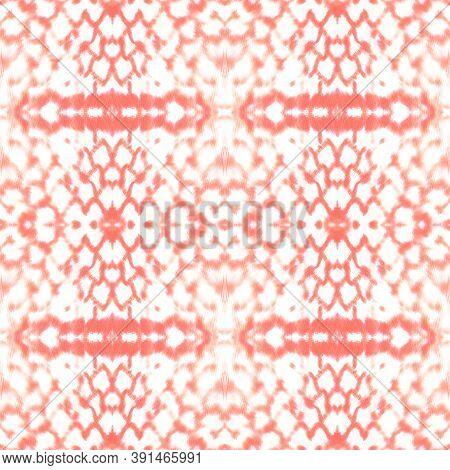 Seamless Predator Pattern. Python Or Cobra Animal Print. Jungle Exotic Background. Red, Living Coral