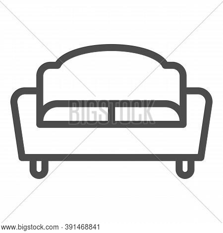 Sofa Line Icon, Furniture Concept, Couch Sign On White Background, Divan For Living Room Icon In Out