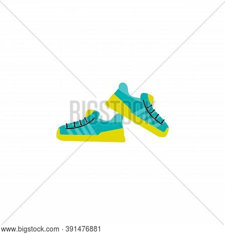 Fashion Sport Footwear Cartoon Icon, Flat Vector Illustration Isolated On White Background. Modern T