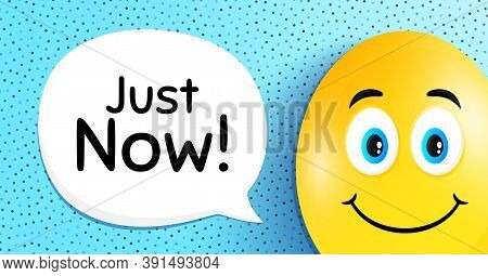 Just Now Symbol. Easter Egg With Smile Face. Special Offer Sign. Sale. Easter Smile Character. Just