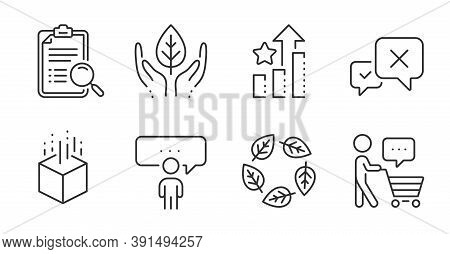 Reject, Fair Trade And Buyer Think Line Icons Set. Consulting Business, Organic Tested And Ranking S