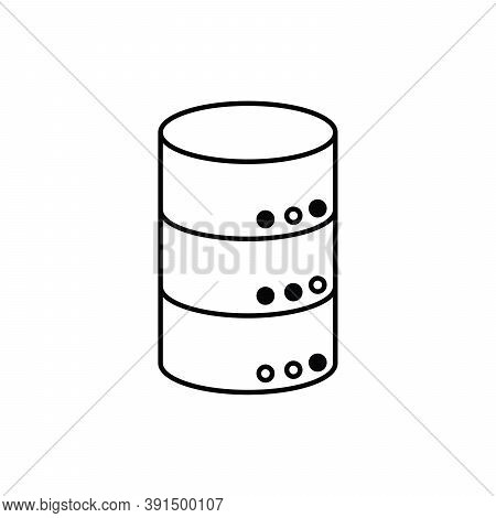 Database Disk Storage Technology Single Isolated Icon With Line Or Outline Style
