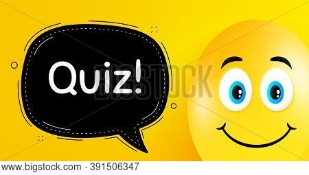 Quiz Symbol. Easter Egg With Smile Face. Answer Question Sign. Examination Test. Easter Smile Charac