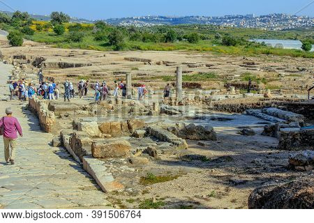 Tzippori, Israel - May 8, 2011: This Is An Archaeological Park Of An Ancient Fortress City Known Fro