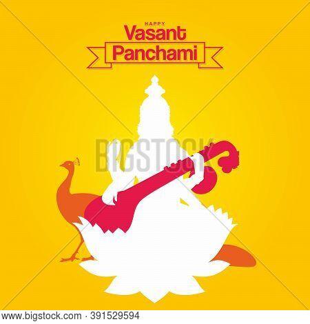 Happy Vasant Panchami Banner - Indian Festival - Illustration