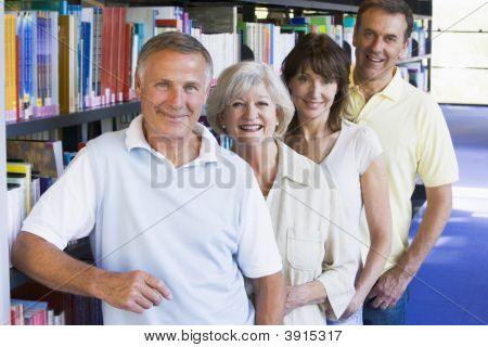 Group Of Adults In Library