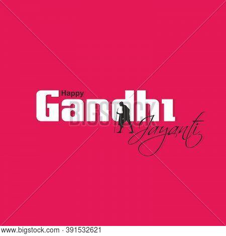 Beautiful Typography Of Happy Gandhi Jayanti | Illustration | Banner