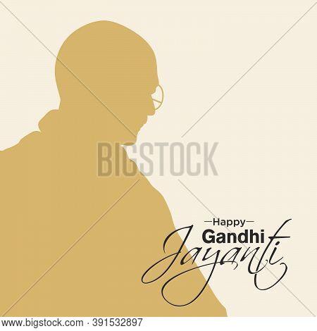 Happy Gandhi Jayanti Banner | Happy Gandhi Jayanti Typography