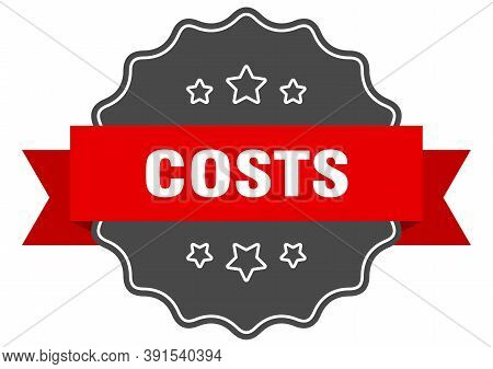 Costs Label. Costs Isolated Seal. Sticker. Sign