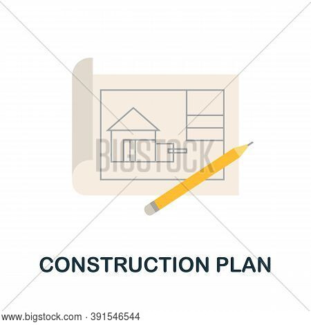 Construction Plan Icon. Simple Element From Construction Collection. Creative Construction Plan Icon