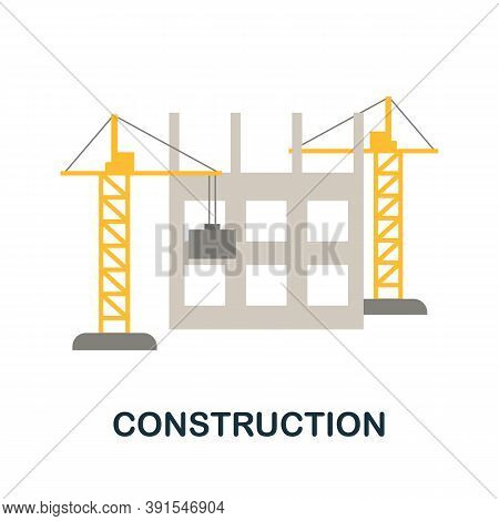 Construction Icon. Monochrome Simple Construction Icon For Templates, Web Design And Infographics