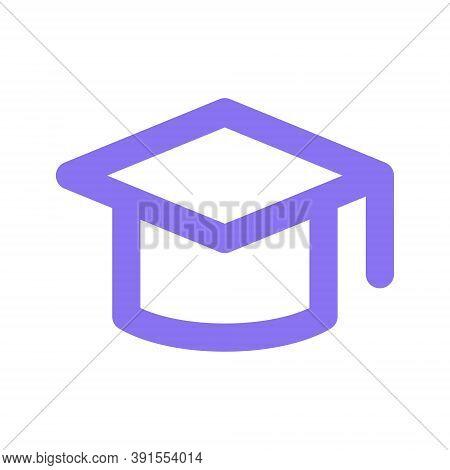 Graduation Cap Icon. College Student Graduation Symbol.