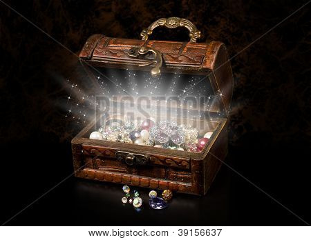 Antique Chest Of Pirate Treasure