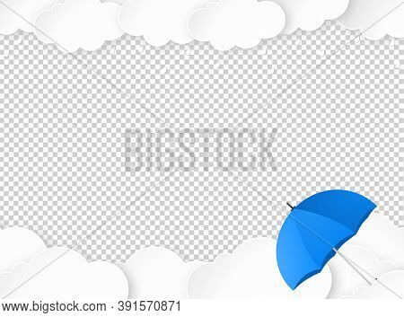 Cloud Rain With Umbrella Isolate On Png Or Transparent, Clear Sky With Cloud, Rain Season, Cloudy Da