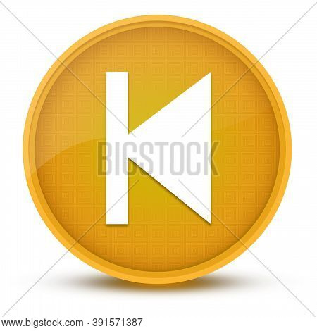 Previous Track Luxurious Glossy Yellow Round Button Abstract Illustration